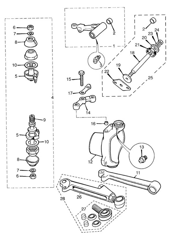 Front Suspension, Hubs, Upper and Lower Arms