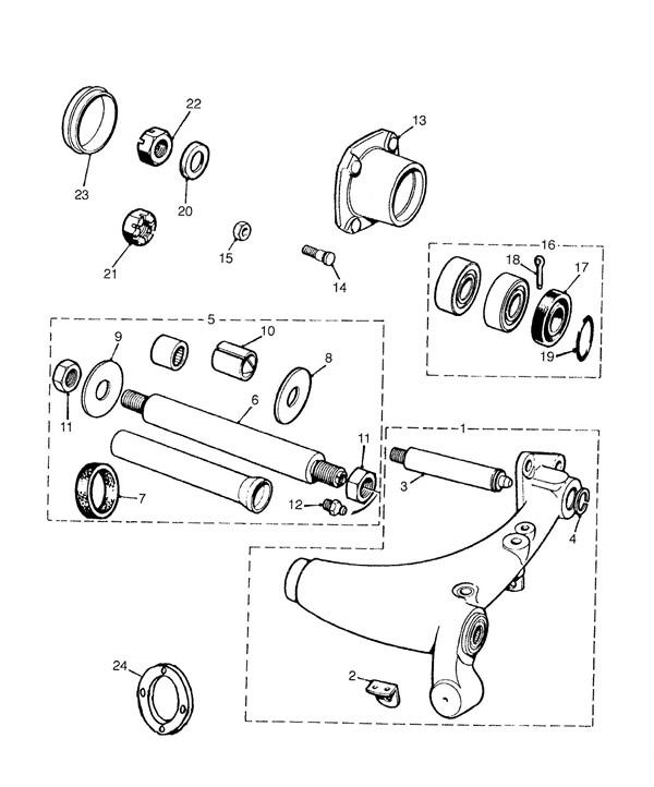 Rear Radius Arm and Bearings