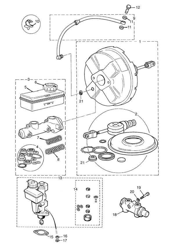 Brake Master Cylinders, Valves and Servo
