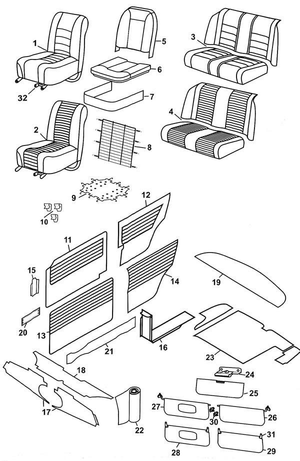 Seats and Trim - Riley Elf & Wolseley Hornet