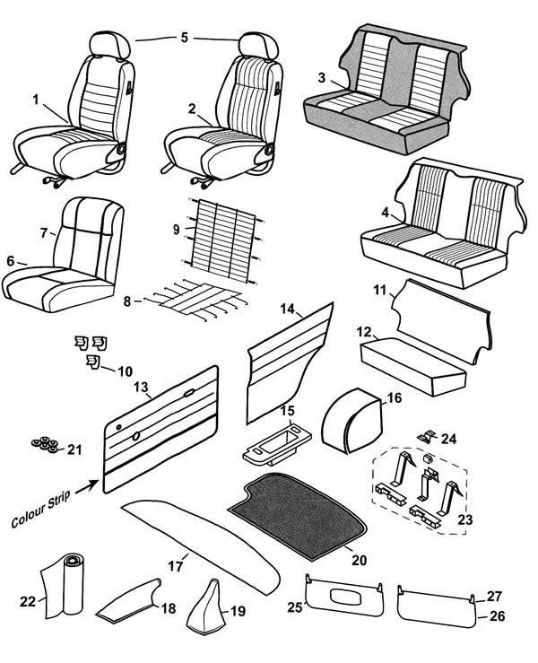 Seats and Trim - Mini 1996-2000