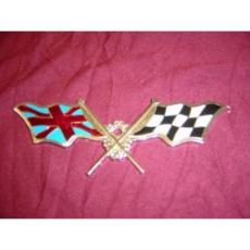 BADGE ENAMELL RACING FLAGS