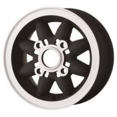 Mini Rose Petal Alloy Wheels 4.75 x 10 BLACKSILVER