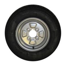 Mini Trailer Wheel and Tyre 145x10  4 Ply PCD 4 Inches