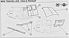 DOOR SKIN LH REAR (TRAV 60-69 VAN 60-83
