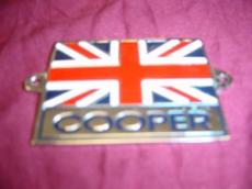 BADGE UNION JACK WORDS COOPER