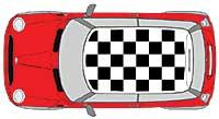 CHEQUERED ROOF KIT (NEW MINI) BLACK
