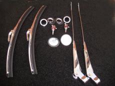 Classic Mini Wiper Stainless Steel Set *Uk Made* RHD