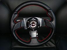 Mini 280mm Sports Wheel Red Stitching