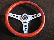 Springalex S-Wheel Wood With Chrome Centre With Holes Design