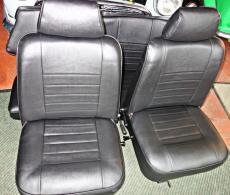 Seat Set Black Vynil With Headrest Genuine Mini Price Includes Surcharge