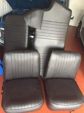 Seat Set Black Vynil Earley Type No Headrest Price Includes Surcharge