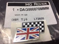 BADGE UNION-CHEQUERED FLAG GENUINE
