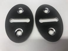 DOOR STRIKER PLATES STAINLESS STEEL WITH FIXING SCREWS