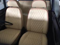 Seat Set MPI Fully Refub In Cream Trimed In Red With Door Cards