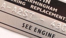Reverse Stamped Chassis Plate - Austin Mini